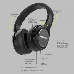 Bluetooth Headphone Awei A950BL -  Official distributor b2b Armenius Store