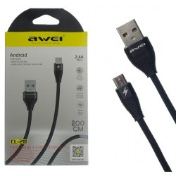 USB Cable Awei CL 28 2.4A -  Official distributor b2b Armenius Store