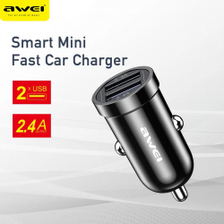 Car Charger Awei C-707 2 USB ports -  Official distributor b2b Armenius Store