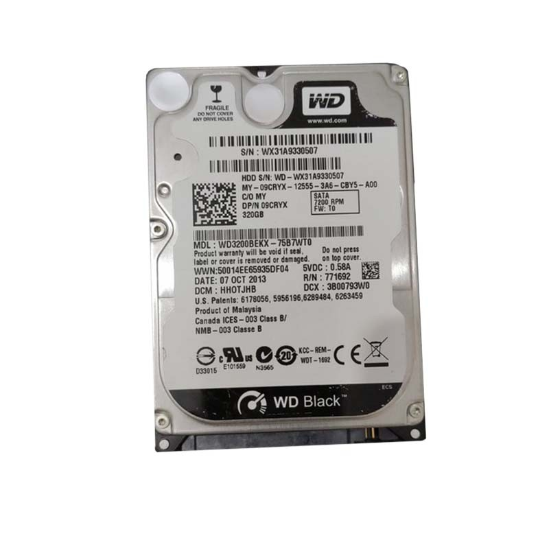 HDD WD Black 320 GB / 2.5 inch SATA 7200 Rpm / WD3200BEKX -  Official