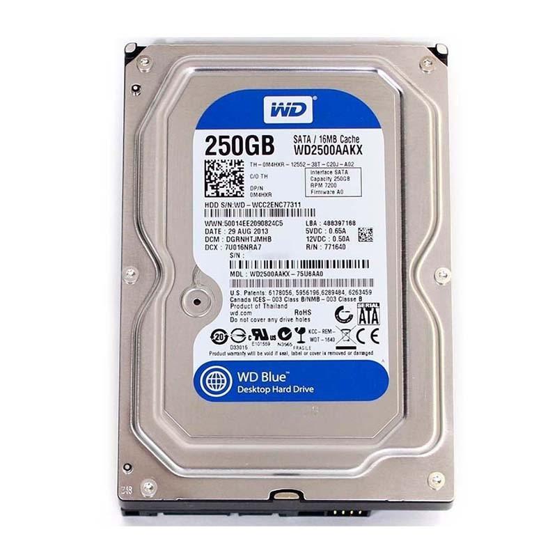 HDD 250 GB Western Digital Blue / 3.5 Inch SATA / WD2500AAKX -  Official
